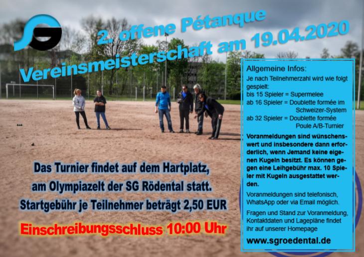 2. offene Pétanque Vereinsmeisterschaft - NEUER TERMIN KOMMT!